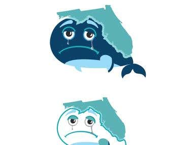 Florida is crying Logo