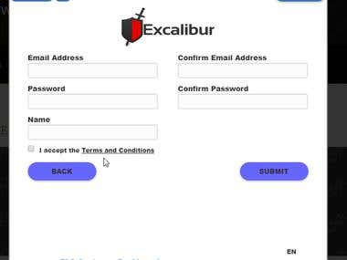 Excalibur popup integration in the system.