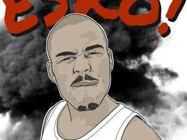 Efe - Esko drawing / album/single artwork
