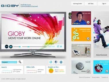 Giooby Portal UI Design