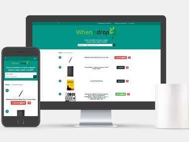 Full-stack Developer and Web Design - WhenItDrop.com