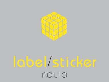 Label/Sticker Design Folio