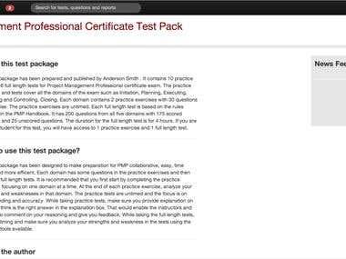 Test Pad - Online Test Preparation Application