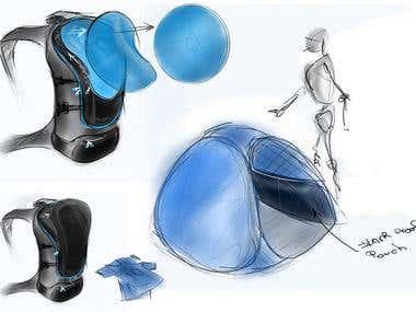 Backpack concept sketch