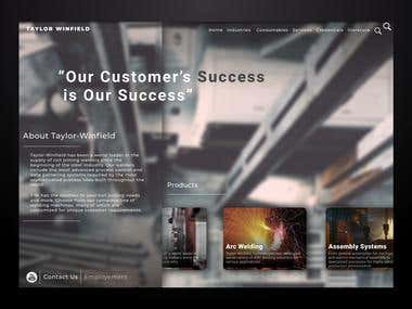Taylor Winfield website redesign