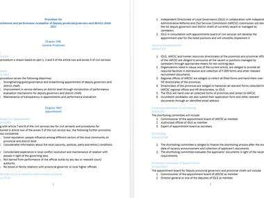 Translation Dari to English    IDLG Appointment translation