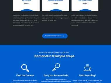 Web Design for certification Mircrosft Partner