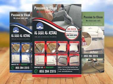 Sofa Cleaning Flyer. 3 Color Design.