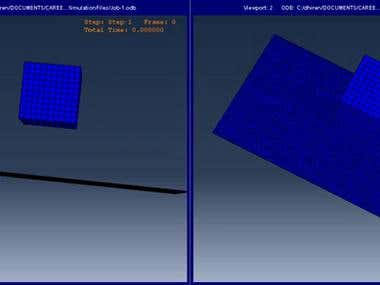 FEA in abaqus - a cube is pressed against a pillow bag