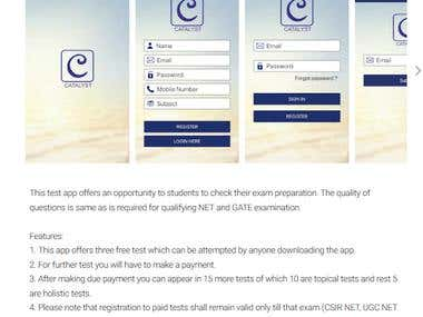 Catalyst Center of Excellence - Online Exam Application