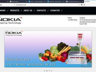 Website Development for weing scale company