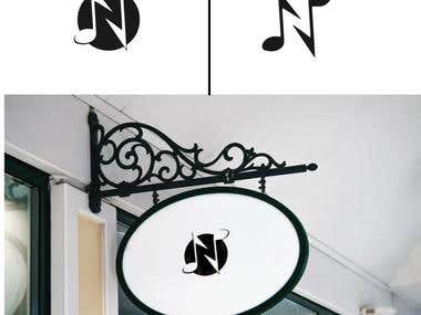 Logo design for letter N