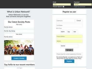 Social Network Deisign