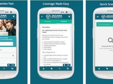 Jacana Warranty (Android Application Development)