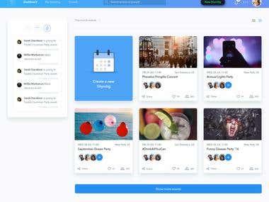 Event services booking platform
