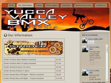 Yucca Valley BMX (WordPress)