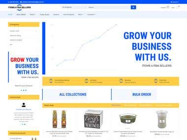 Shopify Wholesale Store - Home Page