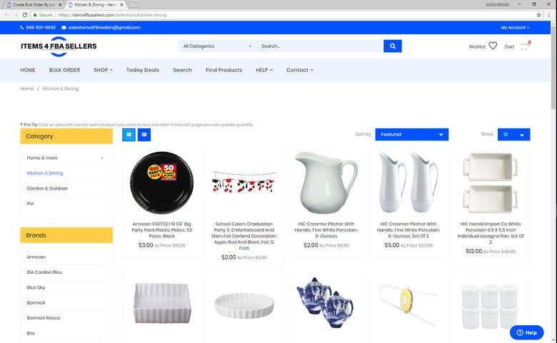Shopify Wholesale Store - Collection Page | Freelancer