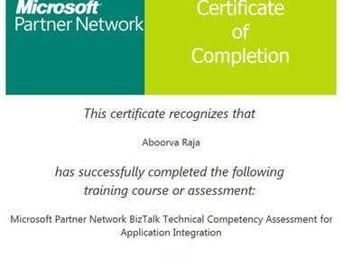 Microsoft Certified BizTalk Professional