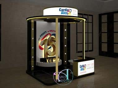 3d design of booth