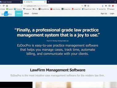 EzDocPro(Online Lawfirm Document Service Software)