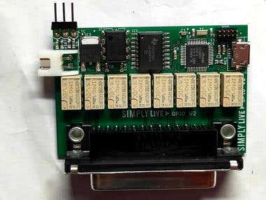 SAMD21 GPI Tally IO board