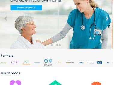 health services for home website development