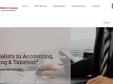 Responsive Website of Chartered Accountant