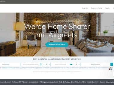 Wordpress Website - Airgreets