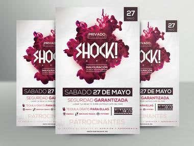 Diseño de Flyer para Shock Party