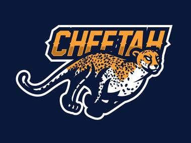 cheetah mascot for esport logo