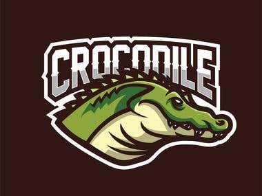 crocodile mascot for esport logo