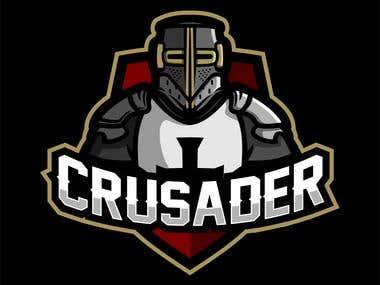 crusader templar knight mascot for esport logo
