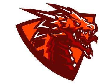 dragon mascot for esport logo