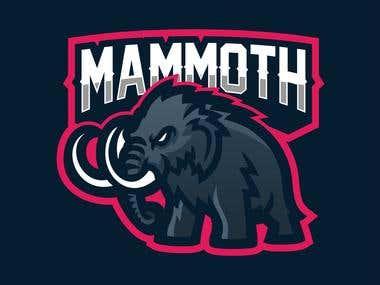 elephant mammoth mascot for esport logo