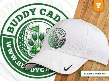 Buddy Caddy Golf Tee & Hat
