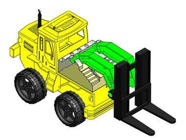 Reverse Engineering of a Toy Fork Lift