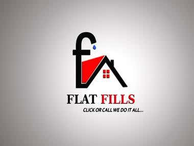 Flat Fills Logo Design