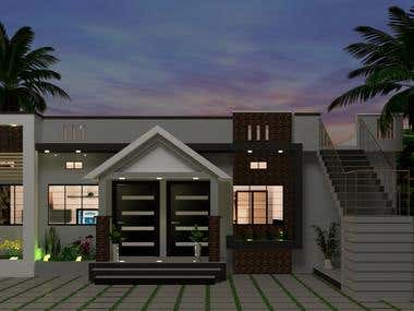 modern house at khargone
