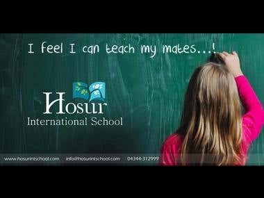 Hosur International School (Hoardings)