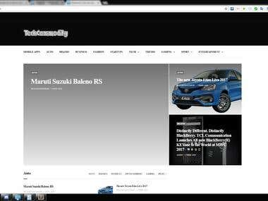 TechCommodity.com - Web Blog Application in Wordpress