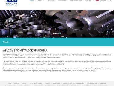 WordPress Web Application (http://metalock.com.ve/clientes )