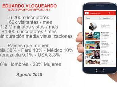 Estadísticas de mi Canal en Youtube