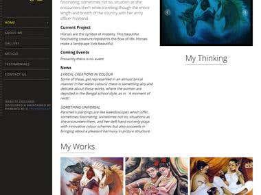 Painting Website (http://panchalii.com)