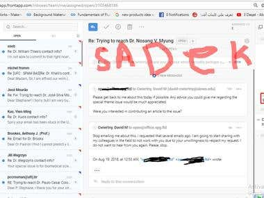 Handle email account