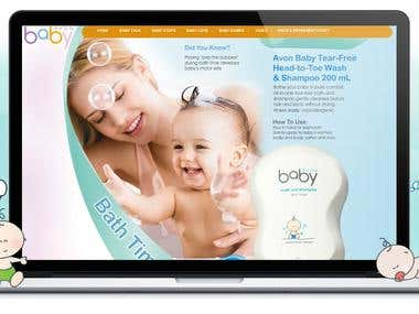 Flash site for AVON Baby product line