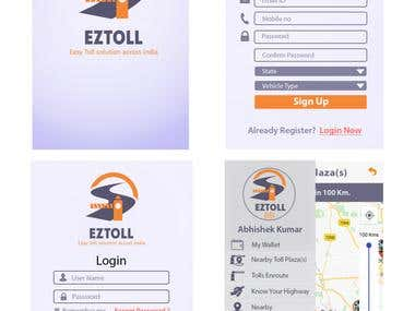 Toll Application - Eztoll ( Android Application )