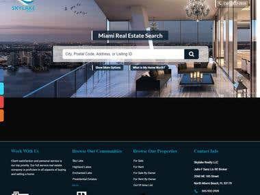 Real Estate website built in PHP