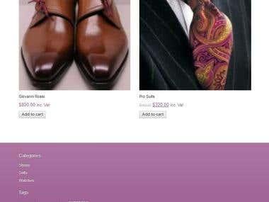 Menswear ecommerce store