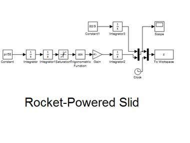 Simulink - Rocket propelled Slid